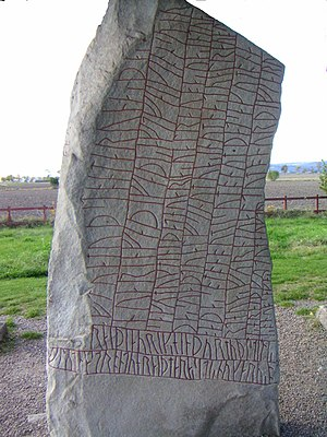 Swedish literature - The Rök Runestone, the start of Swedish literature