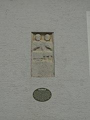 Eingelassener römischer Grabstein