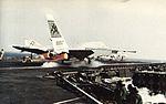 RA-5C Vigilante of RVAH-9 launches from USS Forrestal (CVA-59) c1973.jpg