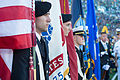 ROTC honor guard cadets stand at attention before parading flags onto the field Sept 140906-D-KC128-982.jpg