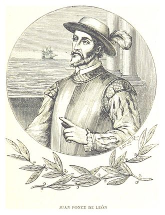 Colonial history of the United States - The Spaniard Juan Ponce de León named and explored Florida.