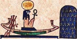 Ra - Ra on the Solar boat.