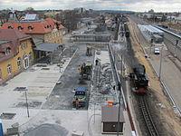 Radebeul Bahnhof Radebeul Ost 2013 Bauarbeiten 05.JPG