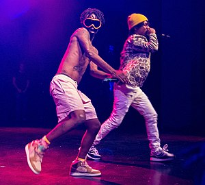 Rae Sremmurd - Slim Jimmy (left) and Swae Lee (right) in 2015