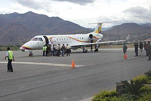Rafael Correa at Camilo Ponce Enríquez Airport 3