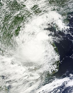 Tropical Storm Rai tropical cyclone which affected Indochina in September 2016