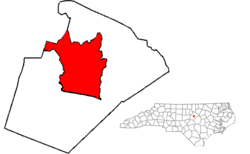Map of Wake County, North Carolina