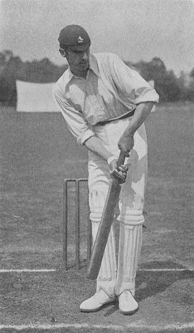 Ranji 1897 page 313 J. R. Mason forcing the ball off his legs.jpg