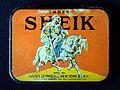 Rare vintage Sheik condom tin, pic2.JPG
