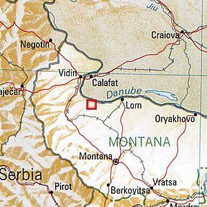 Ratiaria Bulgaria 1994 CIA map