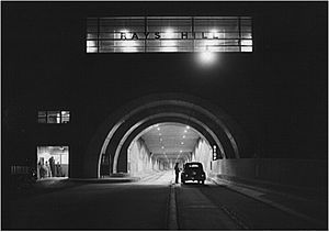 Rays Hill Tunnel - Rays Hill Tunnel at night in 1942