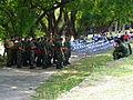 Recurits Line up under Trees Shadow after Practices Completed 20121006a.jpg