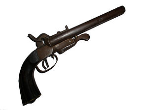 Howdah pistol - Double barrel .50 caliber (13mm) howdah pistol made in Germany