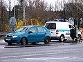 Rekonstrukce Svinovských mostů, auto městské policie.jpg