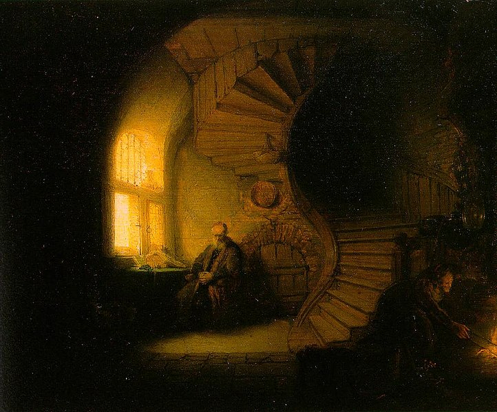 the philosopher in meditation rembrandt