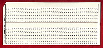 KW-37 - Remington Rand format punch card similar to the type used by NSA to distribute keys.