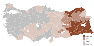 Geographical name changes in Turkey - Percentage of geographical name changes in Turkey from 1916 onwards