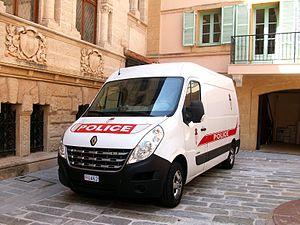 Compagnie des Carabiniers du Prince - Police version of the Renault Master in Monaco-Ville.