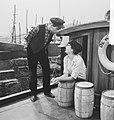 """Repetitie televisiespel """"De Waternimf. Kitty Courbois en Henk van Ulsen, Bestanddeelnr 912-7070.jpg"""