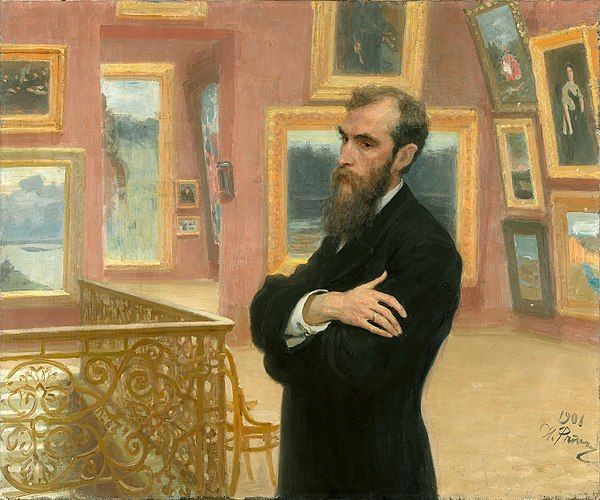И.Е.Репин. Портрет Павла Третьякова. 1901