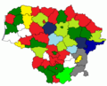 Results of Lithuanian councils of municipalities election, 2007.png