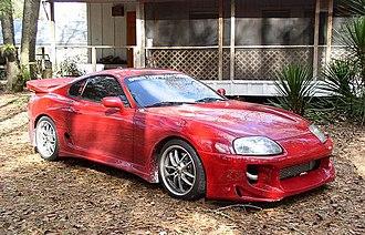Body kit - A 1994 Toyota Supra with a Bomex body kit.