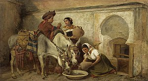 Richard Ansdell - At the well (1870s)