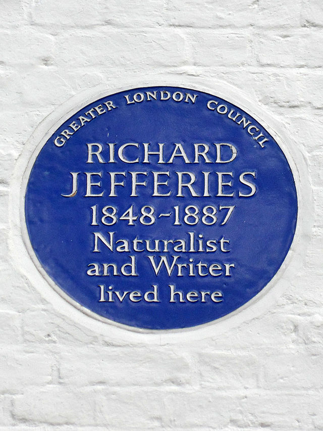 Richard Jefferies blue plaque - Richard Jefferies 1848-1887 naturalist and writer lived here