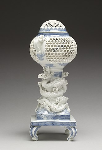 "Censer - ""Incense Burner (""Koro"") Supported by Entwined Dragons"", Japan ca. 19th century."