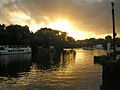 Richmond 013 The Thames near Richmond Bridge October sunset.jpg
