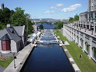 Rideau Canal - Locks in summer