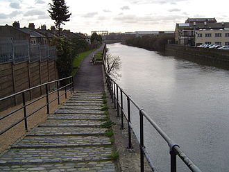 Bow Back Rivers - Steps going down to the tow path, used in the past by horses