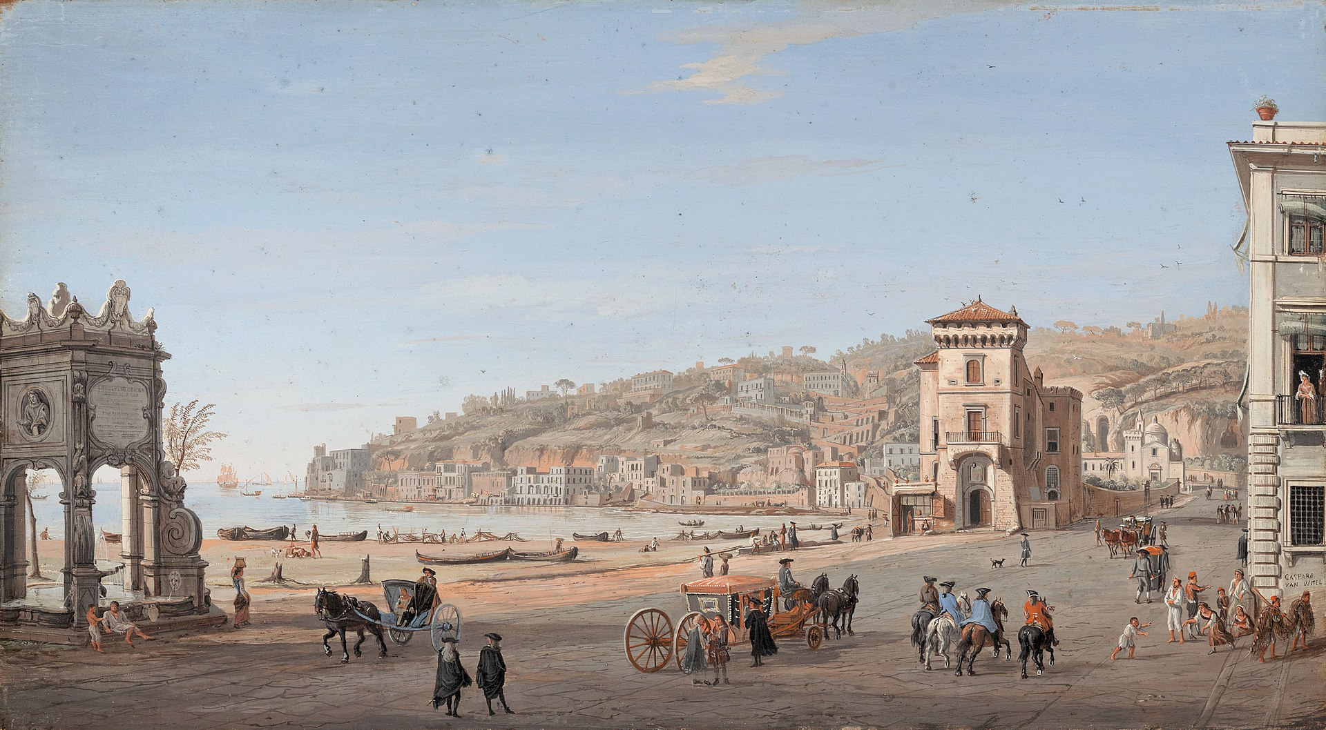 Riviera di Chiaia, Naples by Gaspar van Wittel.jpg