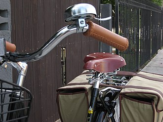 Bicycle bell - Bicycle bell mounted on the handlebars