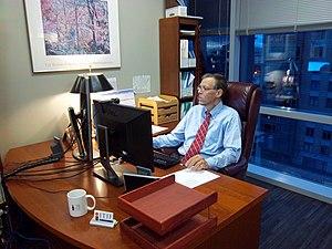 Robert D. Atkinson - Image: Robert D. Atkinson in ITIF office