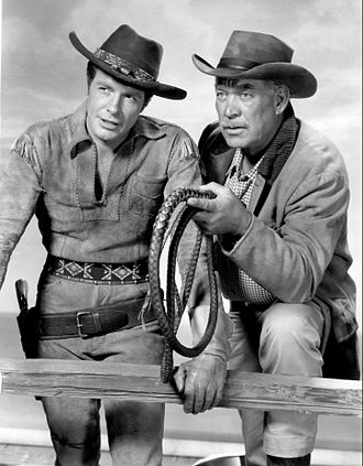 Wagon Train - Robert Horton and Ward Bond.