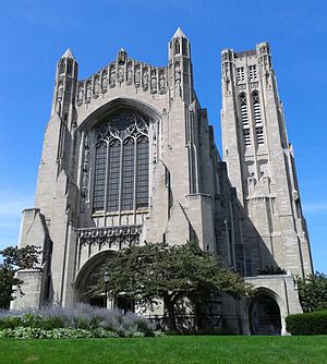 Rockefeller Chapel - Front view of the Rockefeller Chapel.