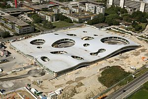 Rolex Learning Center - Construction of the building (mid-2009).