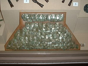Lorica squamata - Roman scale armour fragment.