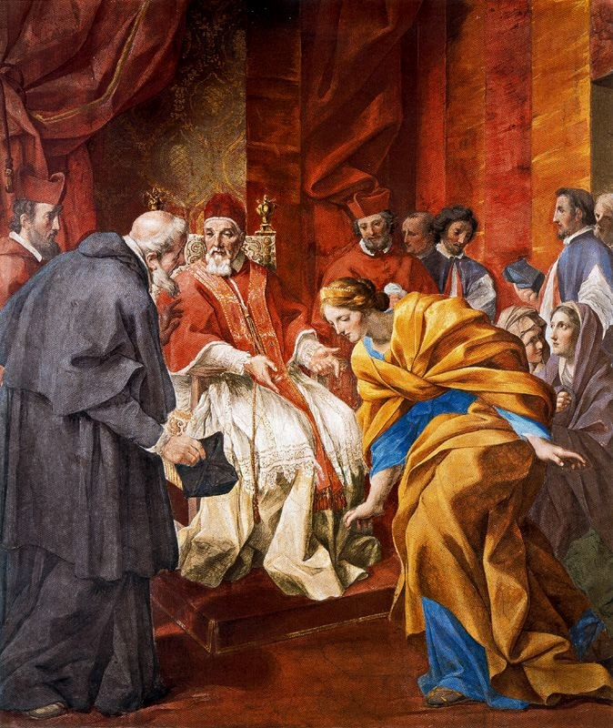 Romanelli - The Meeting of the Countess Matilda and Anselm of Canterbury in the Presence of Pope Urban II