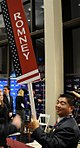 Romney spin room sign (2118622470).jpg
