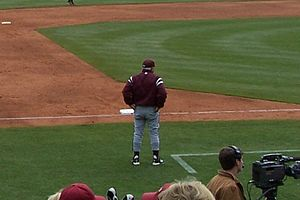 Ron Polk - Polk coaching at Baum Stadium in 2007