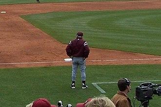 Ron Polk - Polk coaching at Baum Stadium in 2007