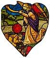 Rose window of Sainte-Chapelle (Paris) - Tuba angel (2).jpg