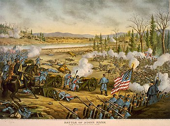 Illustration of the Battle of Stones River, wh...