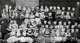 Roseland Christian School - Roseland Christian School student body, 1891.