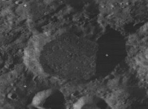 Rosseland (crater) - Oblique view from Lunar Orbiter 3, facing south