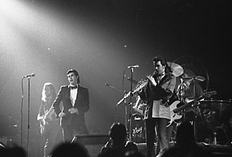 Glossary of jazz and popular music - Art rock band Roxy Music performing in Toronto in 1974
