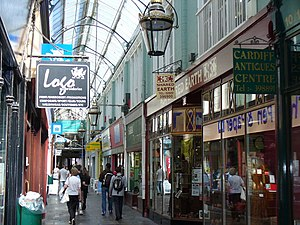 Royal Arcade, Cardiff - Inside the Royal Arcade