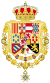 Royal Greater Coat of Arms of Spain (1761-1868 and 1874-1931) Version with Golden Fleece and Order of Charles III Collars.svg